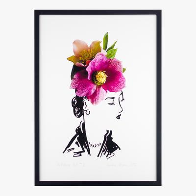 petal & pins hellebore hat two print